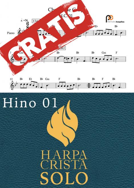 Hino 01 da Harpa Crista solo quarteto de cordas quarteto de metais quarteto de saxofones partituras evangelicas