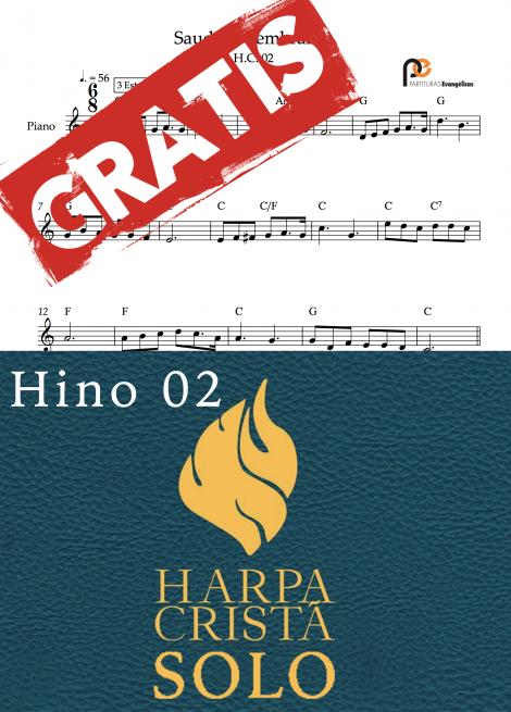 hino 02 da harpa crista partituras evangelicas