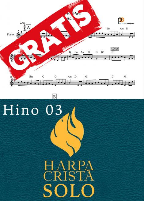 plena paz e santo gozo partitura para orquestra e instrumento solo hino plena paz Hinos da Harpa Solo